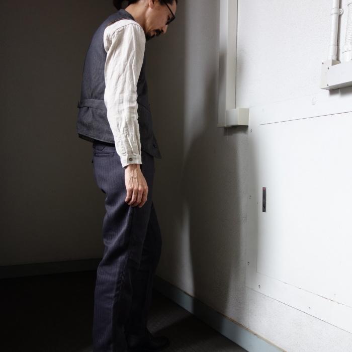 8月の製作 / DA classic stripe waistcoat_e0130546_13543756.jpg