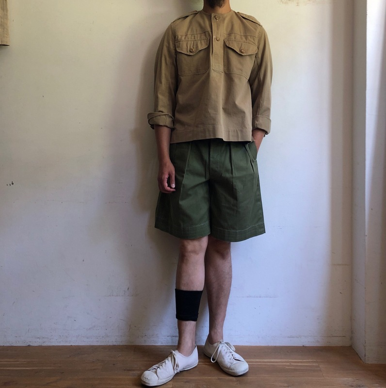 Royal Army Collarless Smock & KD Shorts._f0370108_14525020.jpg