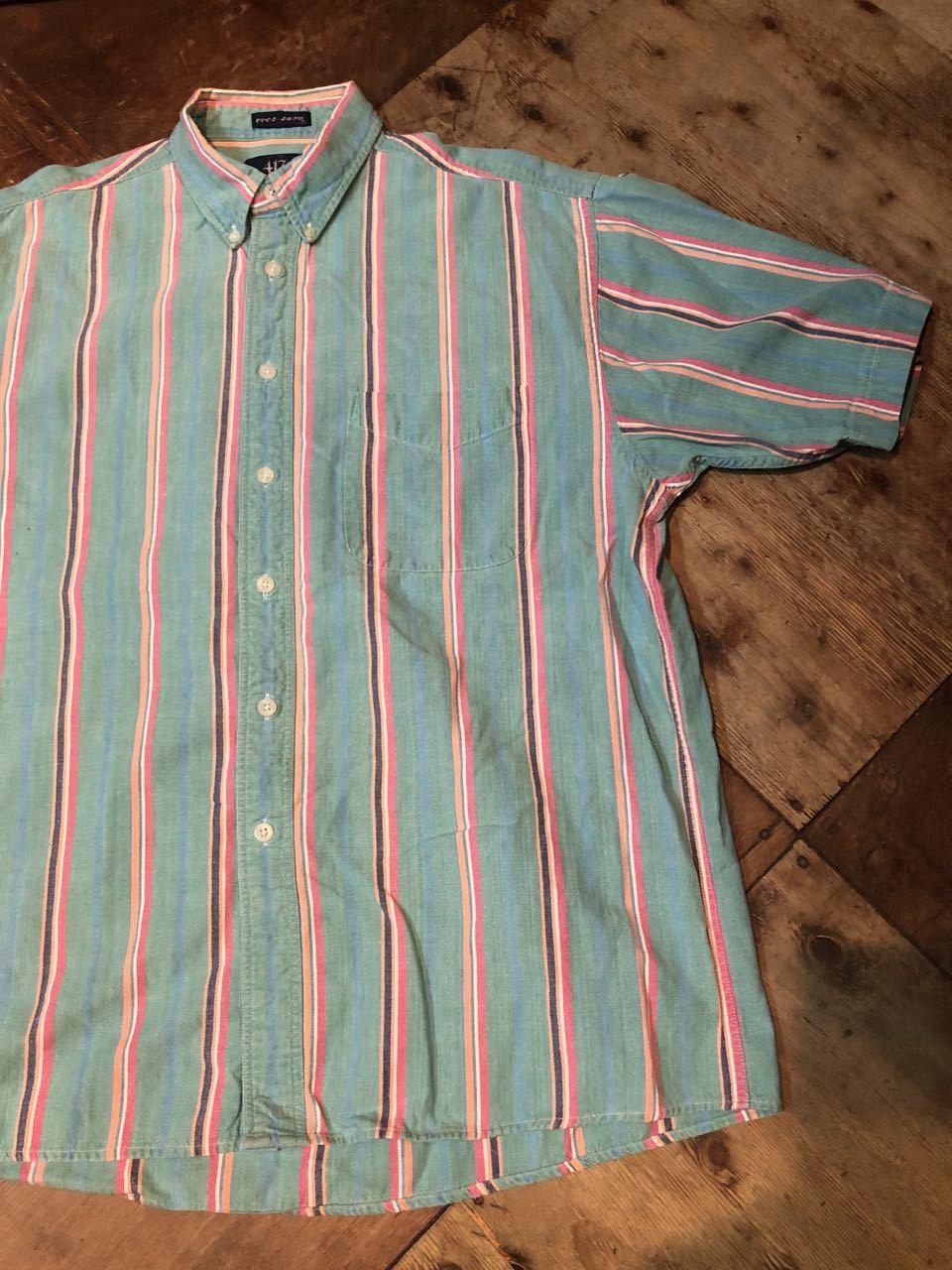 6月8日(月)入荷!80s VAN HUSEN all cotton ストライプ ボタンシャツ!_c0144020_12515877.jpg