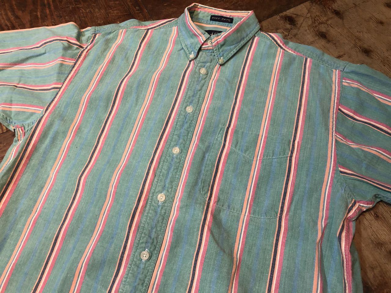 6月8日(月)入荷!80s VAN HUSEN all cotton ストライプ ボタンシャツ!_c0144020_12520194.jpg