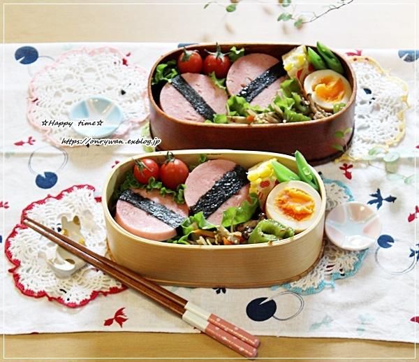 ポロニアソーセージおむすび弁当とおうちごはん♪_f0348032_16063245.jpg