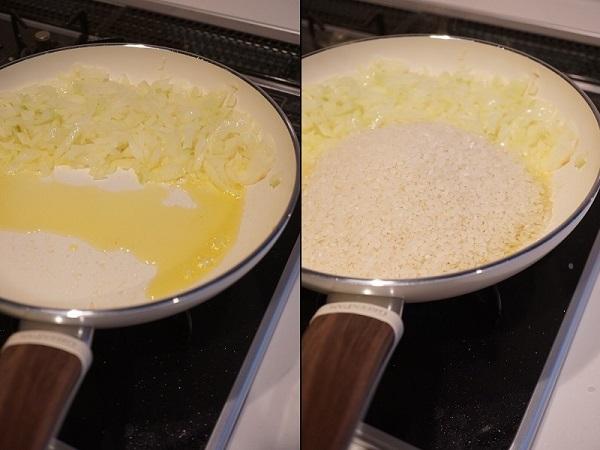 グリーンパンを使ったキノコと牛肉のパエリア_d0269651_14200727.jpg