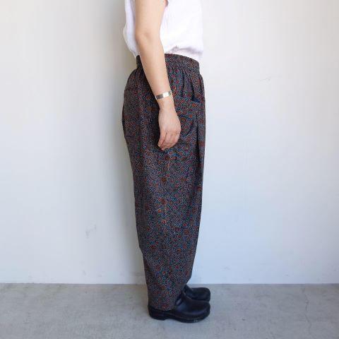 Slow hands : geometric print relax beach pants_a0234452_12125563.jpg
