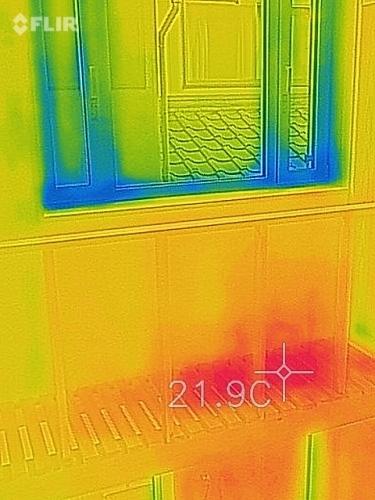 新潟市江南区 床下エアコン 熱画像 熱カメラ_c0091593_14580563.jpg