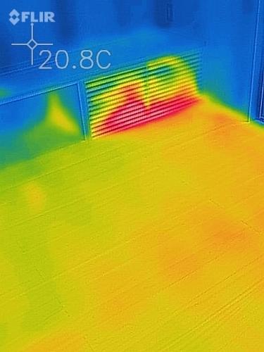 新潟市江南区 床下エアコン 熱画像 熱カメラ_c0091593_14580575.jpg