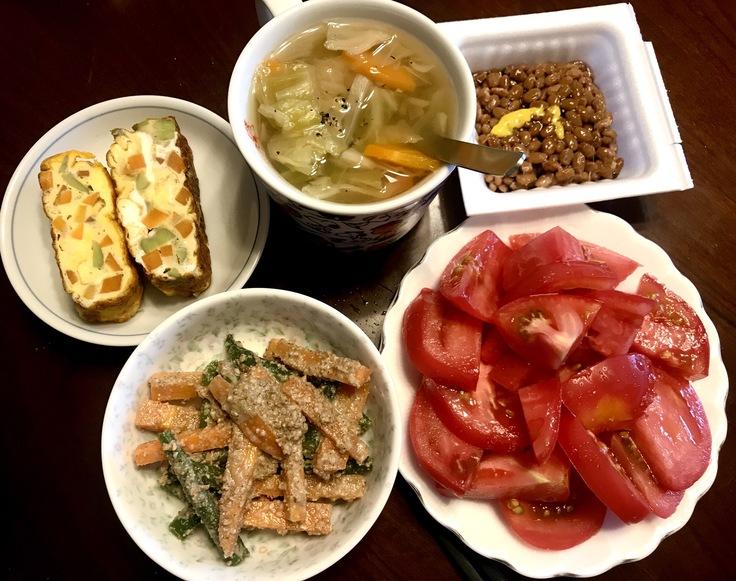 6/12☆山盛りトマト&野菜スープと玉子焼き♪_c0212604_12202625.jpg