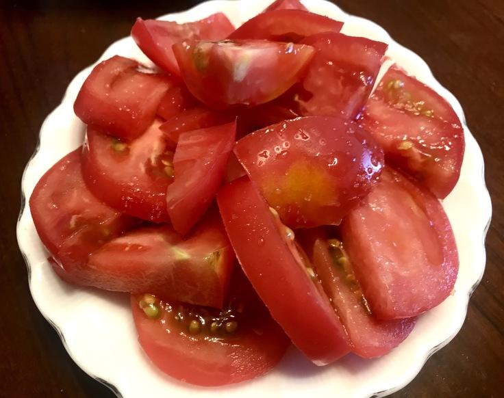 6/12☆山盛りトマト&野菜スープと玉子焼き♪_c0212604_12205446.jpg