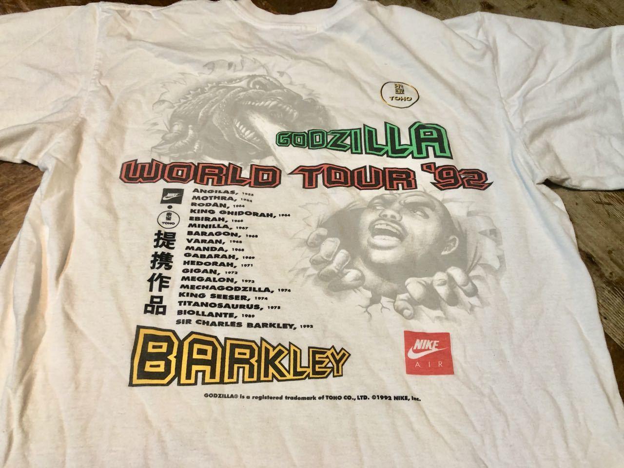 6月13日(土)入荷!1992年 90s NIKE GODZILLA ゴジラ BARKLEY AIRFORCE  Tシャツ!_c0144020_13481418.jpg