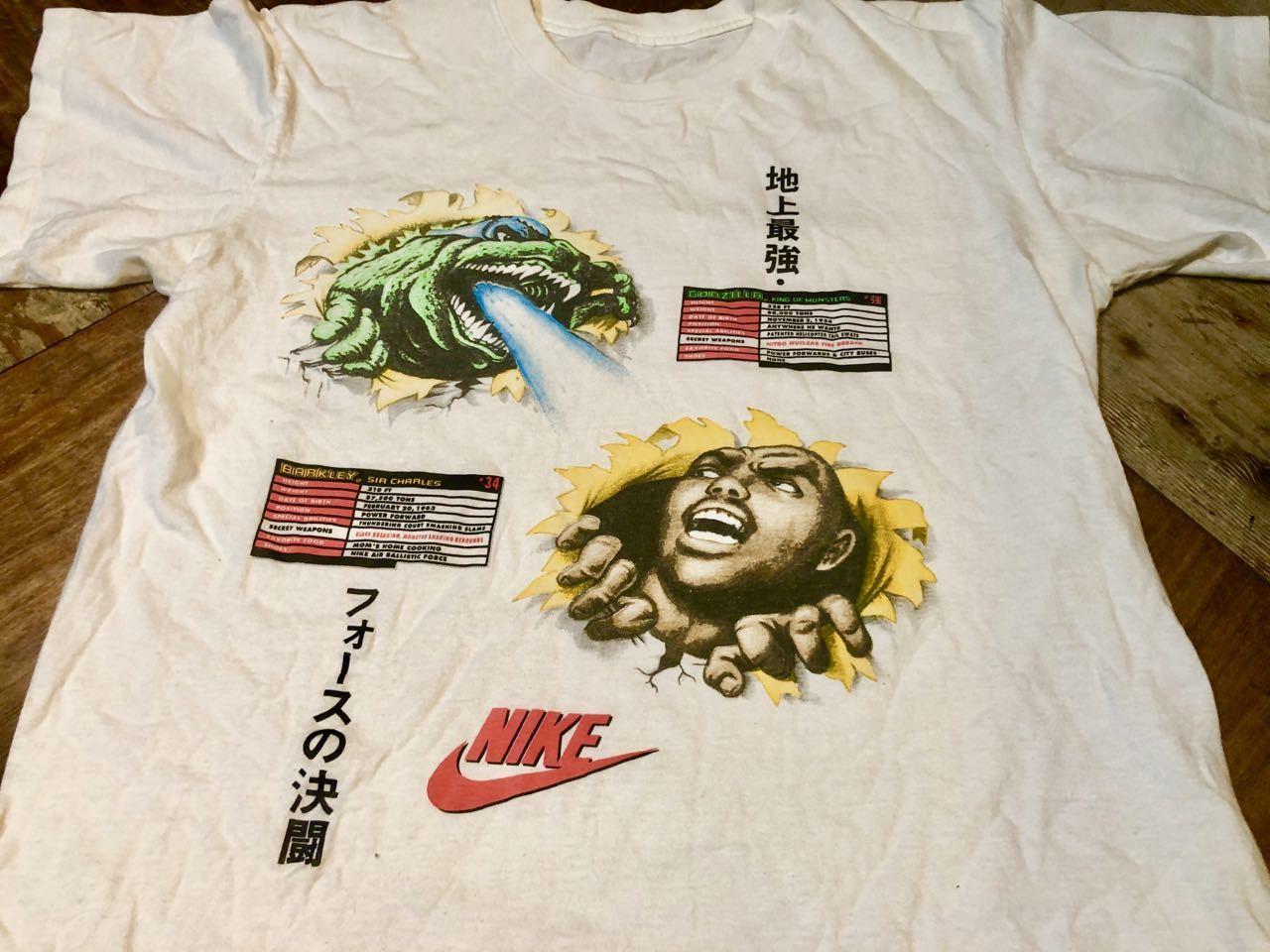 6月13日(土)入荷!1992年 90s NIKE GODZILLA ゴジラ BARKLEY AIRFORCE  Tシャツ!_c0144020_13482755.jpg