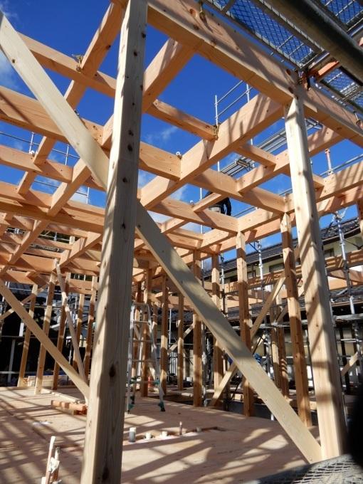 伊那市で設計事務所の家づくり 建築現場『建て方』_b0146238_06540110.jpg
