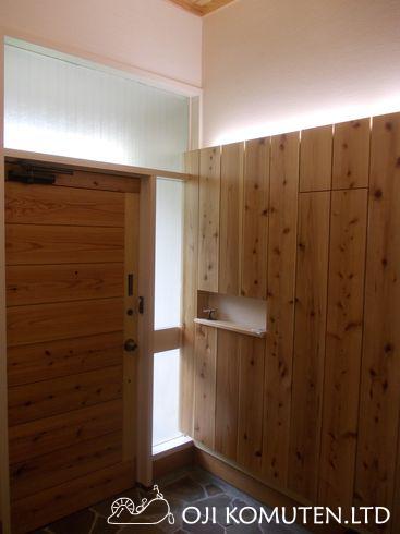 無垢の杉板で玄関リフォーム_c0405550_16461330.jpg