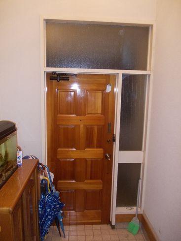 無垢の杉板で玄関リフォーム_c0405550_16461391.jpg