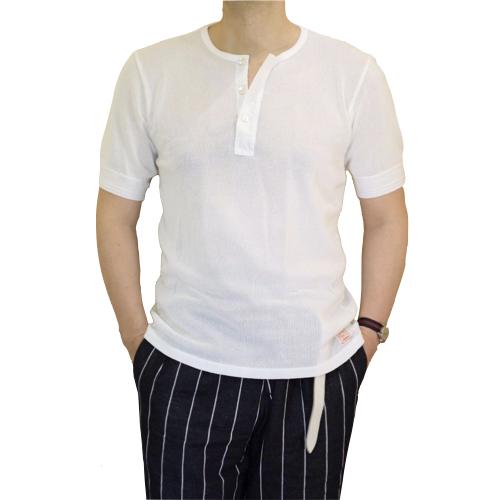Schiesser シーサー ヘンリーネック メッシュジャージー Tシャツ 145周年モデル JACQUES_c0118375_17301615.jpeg