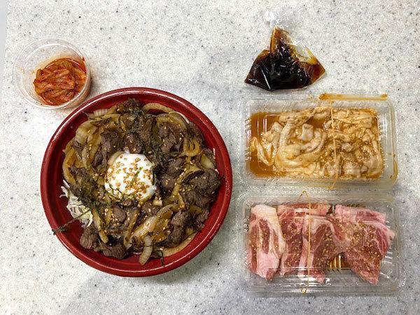 金沢(旭町):焼肉なんば亭 「牛ハラミの切落し丼」と「シロ、豚肩ロース」テイクアウト_b0089578_13540276.jpg