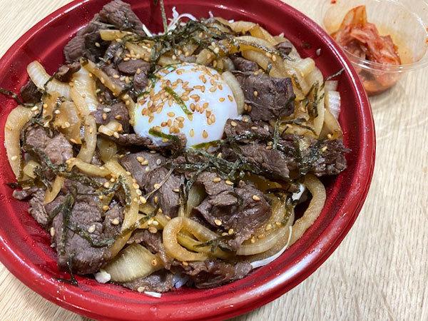 金沢(旭町):焼肉なんば亭 「牛ハラミの切落し丼」と「シロ、豚肩ロース」テイクアウト_b0089578_13541600.jpg