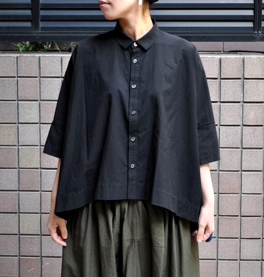 ペルー綿のカジュアルワイド半袖シャツ / FACTORY_d0193211_16553526.jpg