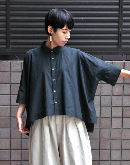 ペルー綿のカジュアルワイド半袖シャツ / FACTORY_d0193211_1659463.jpg