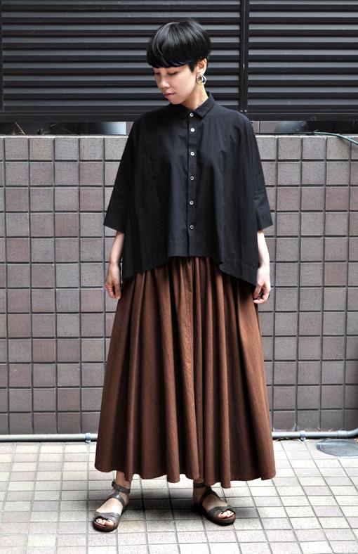 ペルー綿のカジュアルワイド半袖シャツ / FACTORY_d0193211_17162464.jpg
