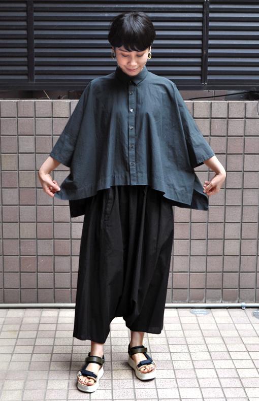ペルー綿のカジュアルワイド半袖シャツ / FACTORY_d0193211_17174258.jpg