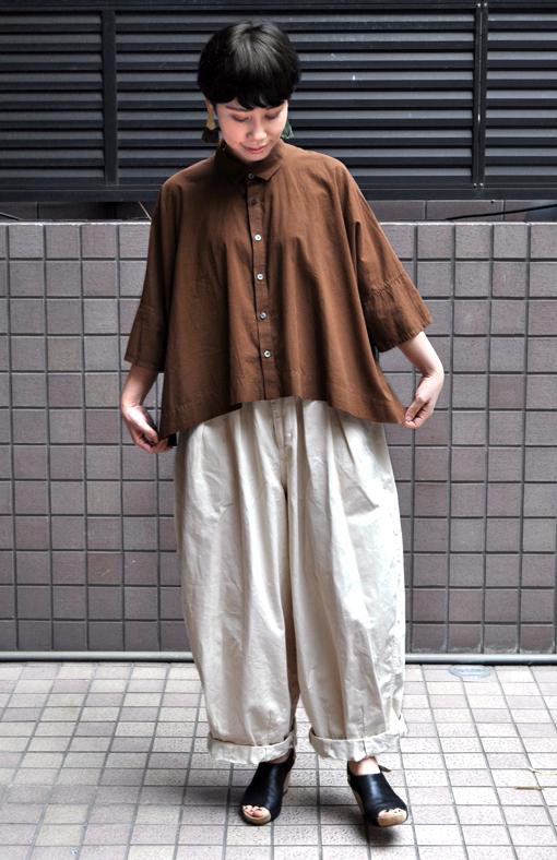 ペルー綿のカジュアルワイド半袖シャツ / FACTORY_d0193211_17183091.jpg