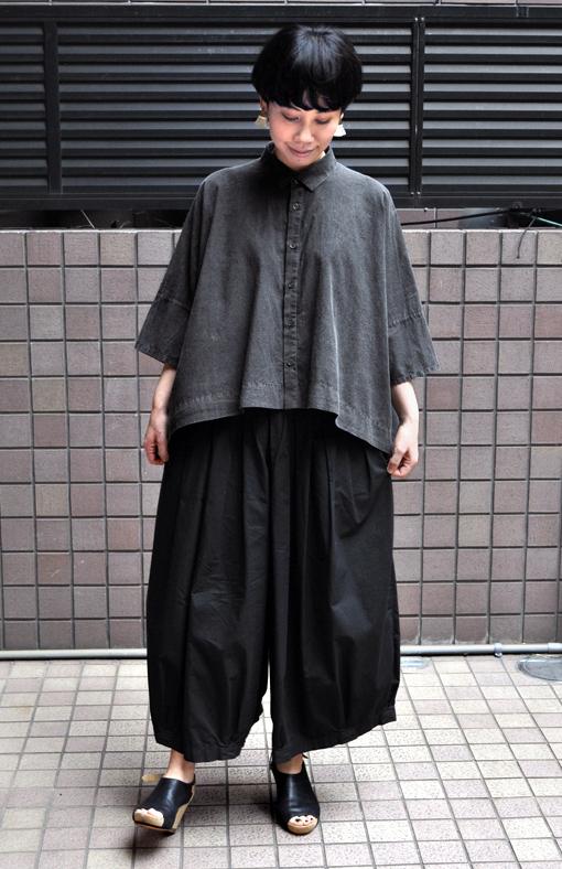 ペルー綿のカジュアルワイド半袖シャツ / FACTORY_d0193211_17192231.jpg
