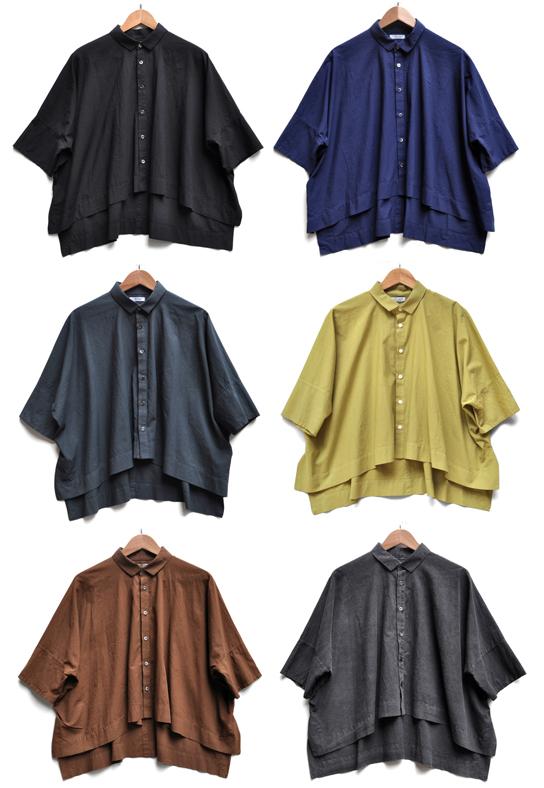 ペルー綿のカジュアルワイド半袖シャツ / FACTORY_d0193211_17203486.jpg