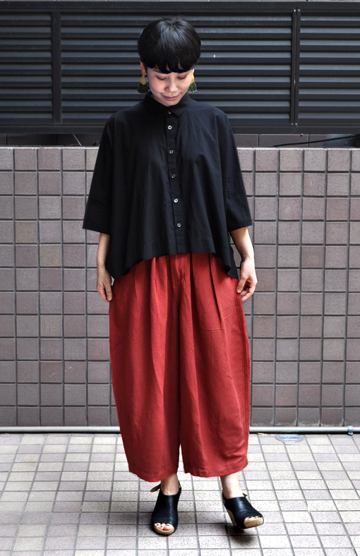 ペルー綿のカジュアルワイド半袖シャツ / FACTORY_d0193211_17263819.jpg