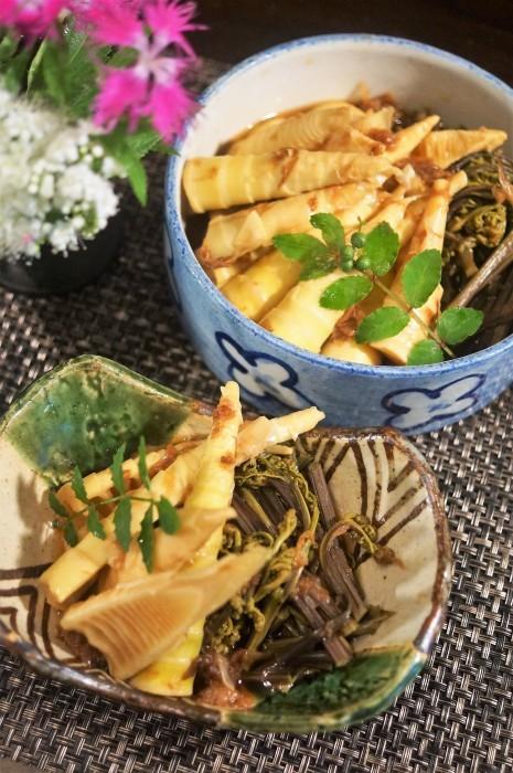 ■季節料理【真竹と蕨の煮付け】_b0033423_22045964.jpg