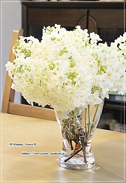 湯種食パンと庭の花を飾ってみた♪_f0348032_16200617.jpg