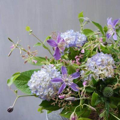 オークリーフ(紫陽花とクレマチス)_f0049672_14341387.jpg