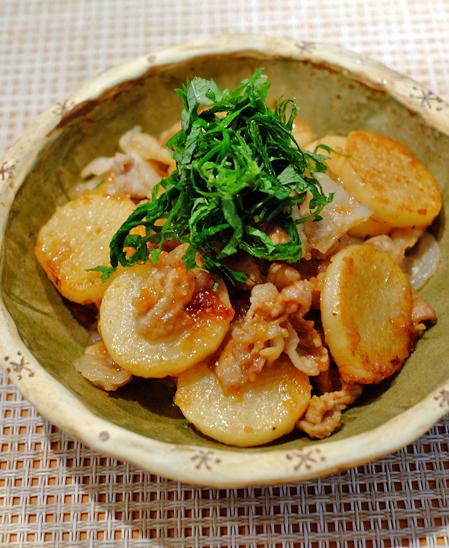 豚肉と長芋の梅ガーリック焼き_f0179404_09253951.jpg
