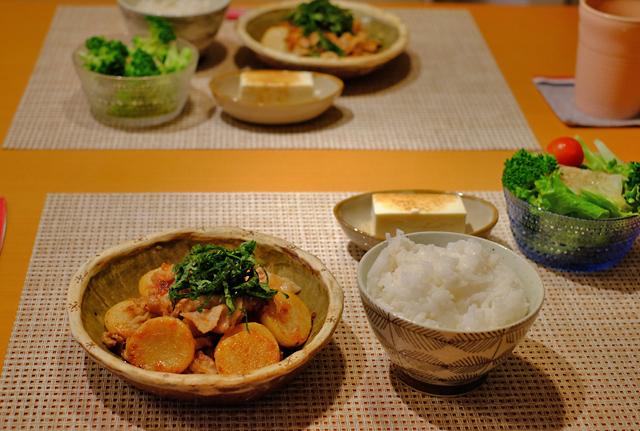 豚肉と長芋の梅ガーリック焼き_f0179404_09270971.jpg
