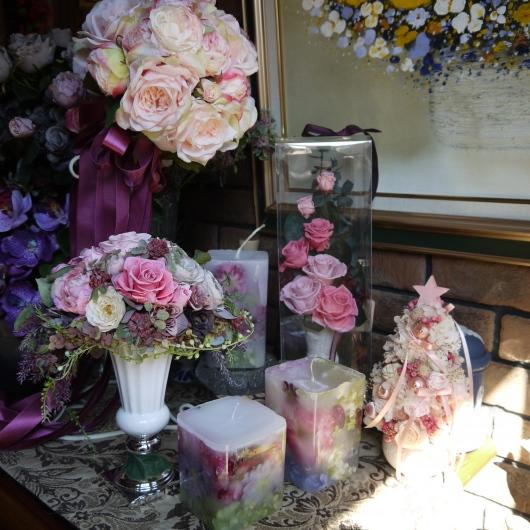 庭の薔薇をドライフラワーに・キャントルにします_a0123133_14304218.jpg