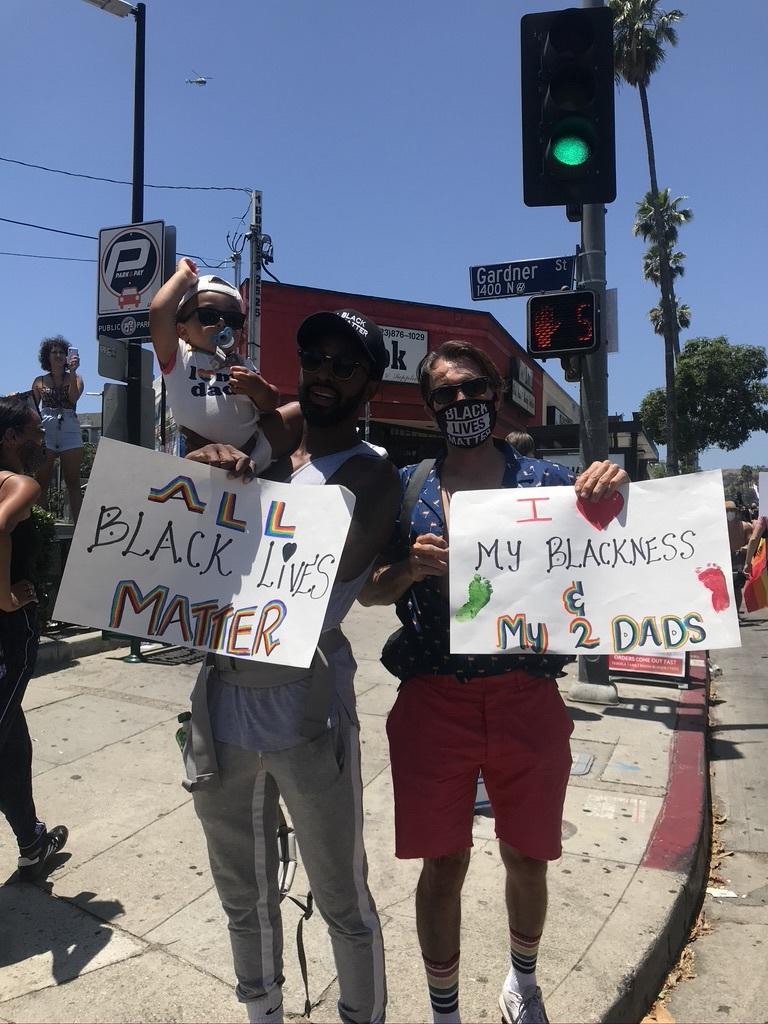 BLM LAプライド版デモ in West Hollywood_d0003936_13061578.jpeg