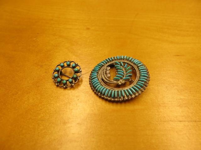 "\""Zuni vintage turquoise point pendant top & pin\""ってこんなこと。_c0140560_09134589.jpg"