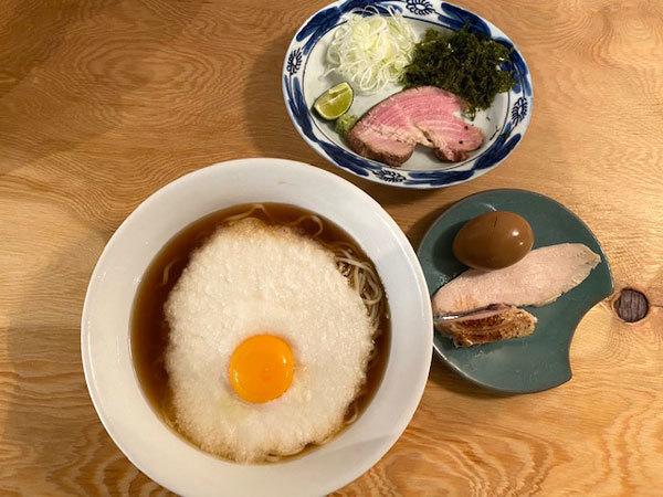 金沢(安江町):麺屋 白鷺「冷やし月見とろろそば(醤油味)」_b0089578_10450860.jpg