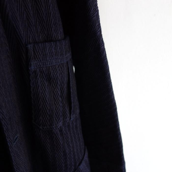 8月の製作 / classic farmers indigo coat_e0130546_16083780.jpg