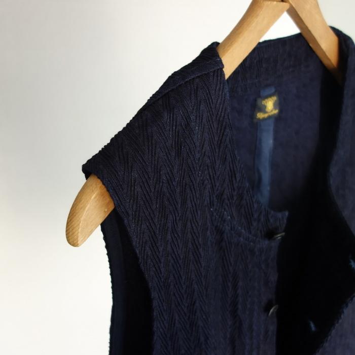 8月の製作 / DA frenchwork indigo vest_e0130546_16182039.jpg