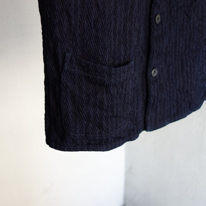 8月の製作 / DA frenchwork indigo vest_e0130546_16185592.jpg