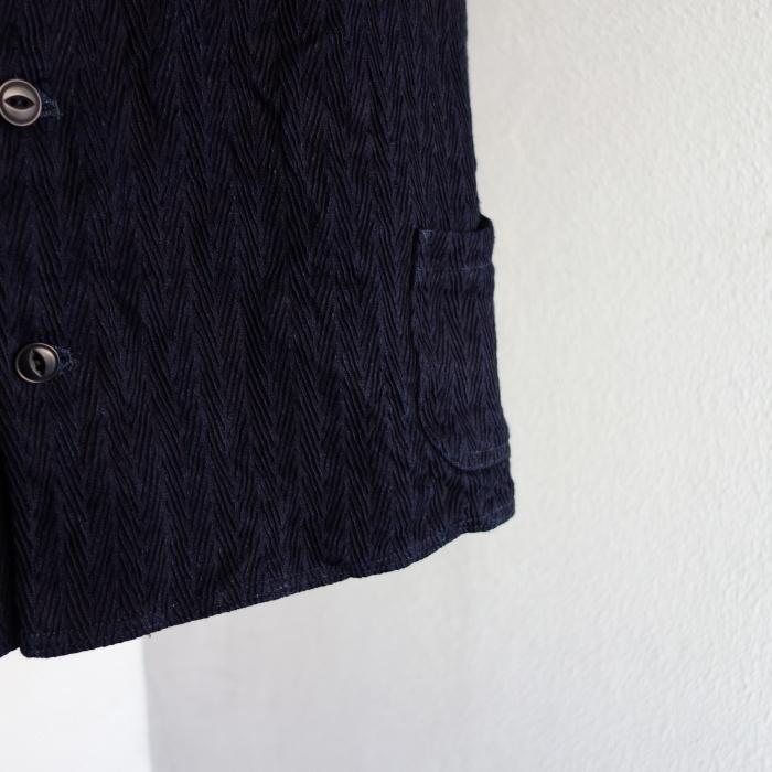 8月の製作 / DA frenchwork indigo vest_e0130546_16190946.jpg