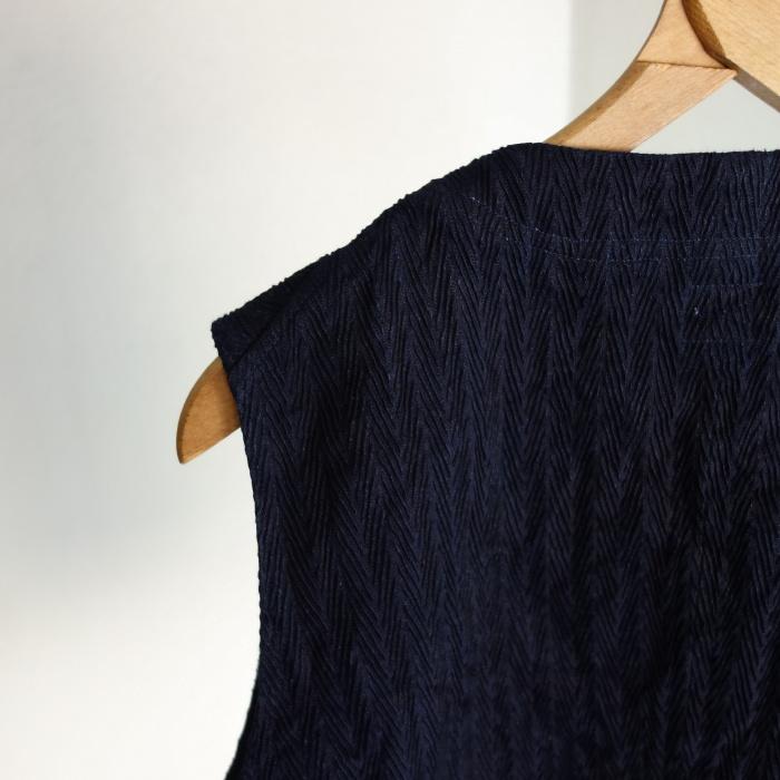 8月の製作 / DA frenchwork indigo vest_e0130546_16192337.jpg