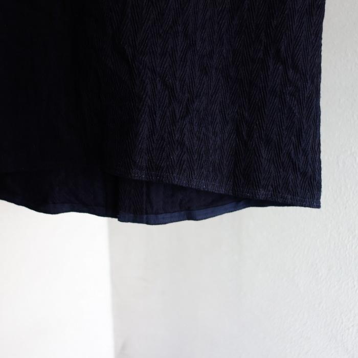 8月の製作 / DA frenchwork indigo vest_e0130546_16193714.jpg