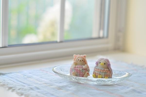 和菓子の日に、アマビエ & ネコビエ練り切り_d0025294_18460336.jpg