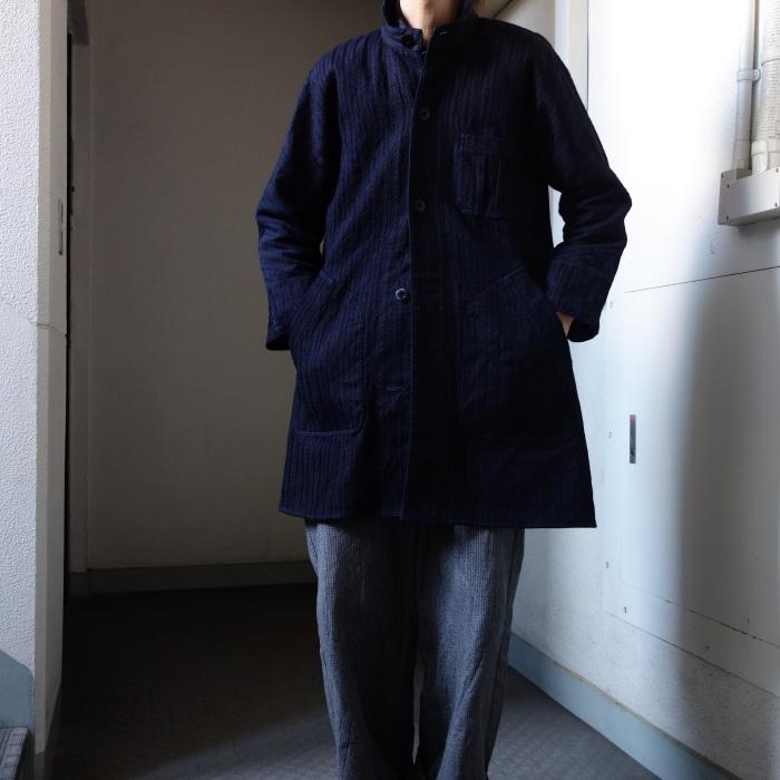 8月の製作 / classic farmers indigo coat_e0130546_17502345.jpg