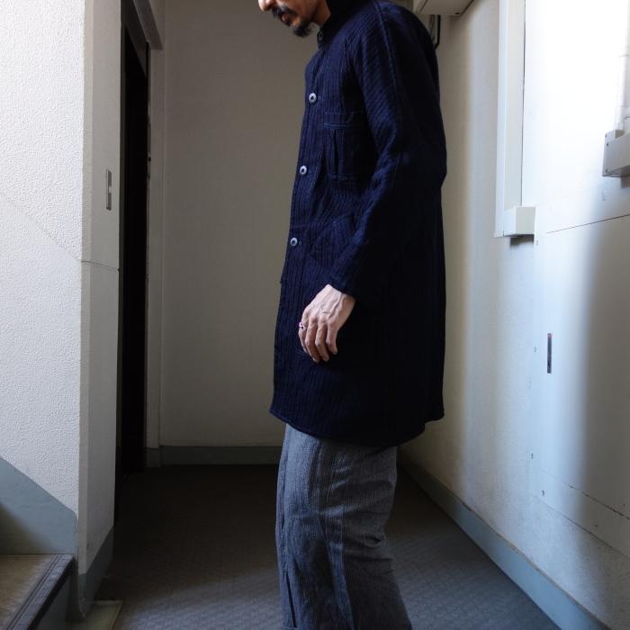 8月の製作 / classic farmers indigo coat_e0130546_17514771.jpg