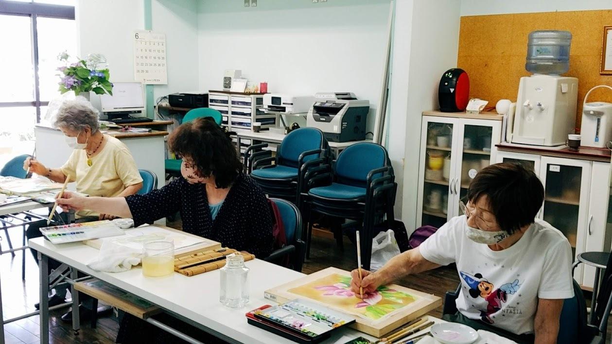懐メロ体操&水彩画教室_c0113948_14061011.jpg