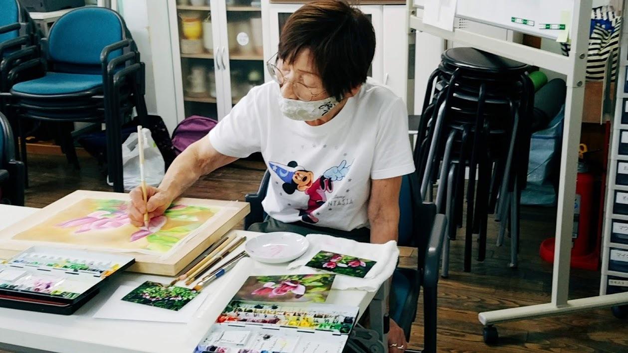 懐メロ体操&水彩画教室_c0113948_14061340.jpg