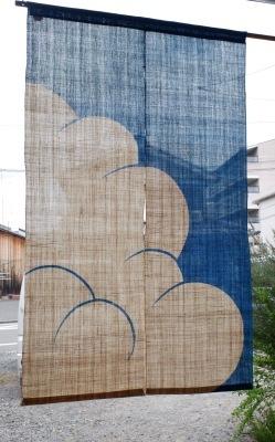 麻暖簾「入道雲」_e0247766_18040511.jpg