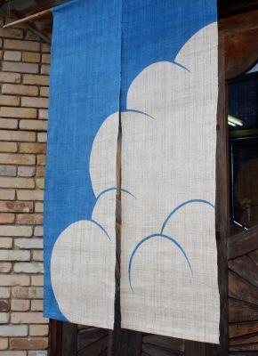 麻暖簾「入道雲」_e0247766_18040567.jpg
