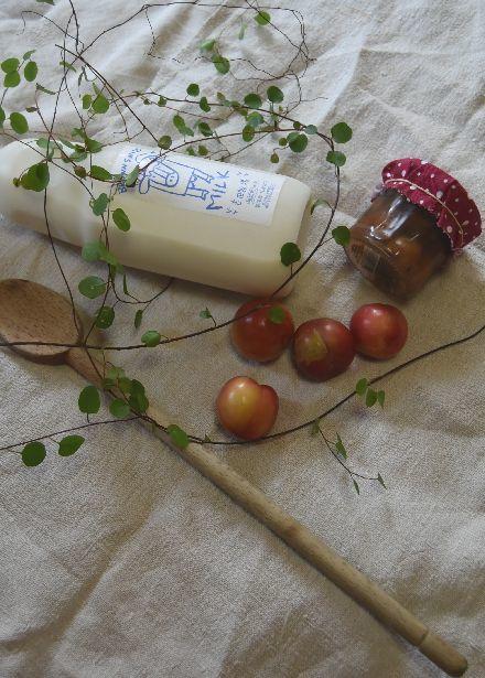 吉田牧場さんの牛乳と 南仏のさくらんぼうのクラフティ_b0346275_05232957.jpg